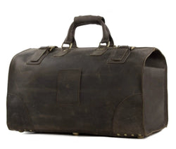 Vintage Genuine Leather Extra Large Travel Bag | Dark Brown | Free Shipping - Blue Sebe