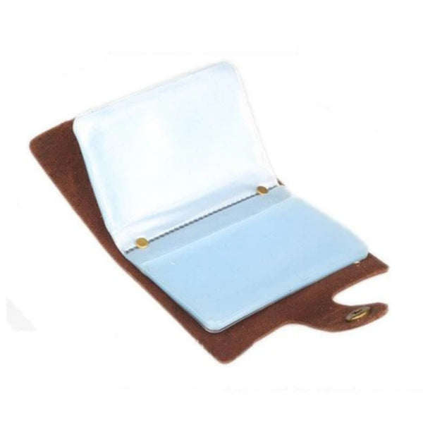 Handmade Genuine Leather Card Holder - Blue Sebe Handmade Leather Bags