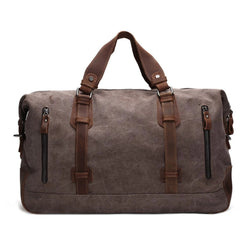 Waxed Canvas Overnight Duffle Travel Bag - Blue Sebe