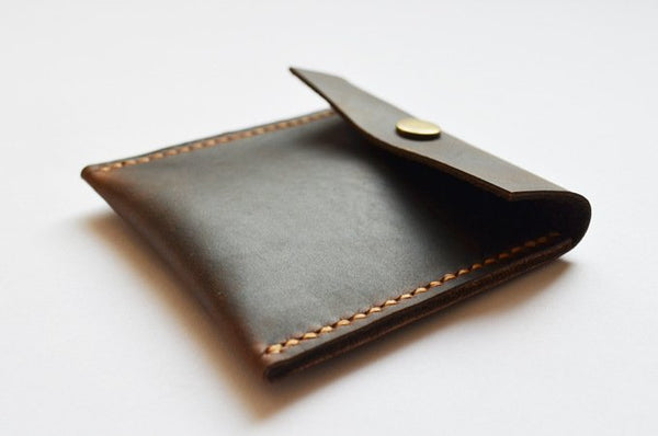 Handmade Genuine Natural Leather Coin Purse - Blue Sebe