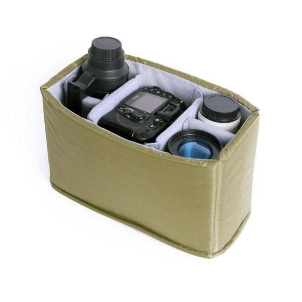 Camera Insert Bags - Army Green - Blue Sebe Handmade Leather Bags