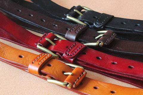 Handmade Vegetable Tanned Leather Belt - Blue Sebe Handmade Leather Bags