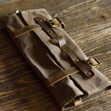 Handmade Vintage Canvas Tool Saddlebag - Blue Sebe