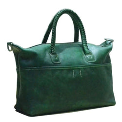 Handmade Full Grain Leather Women's Tote Bag With Zipper | Free Shipping - Blue Sebe