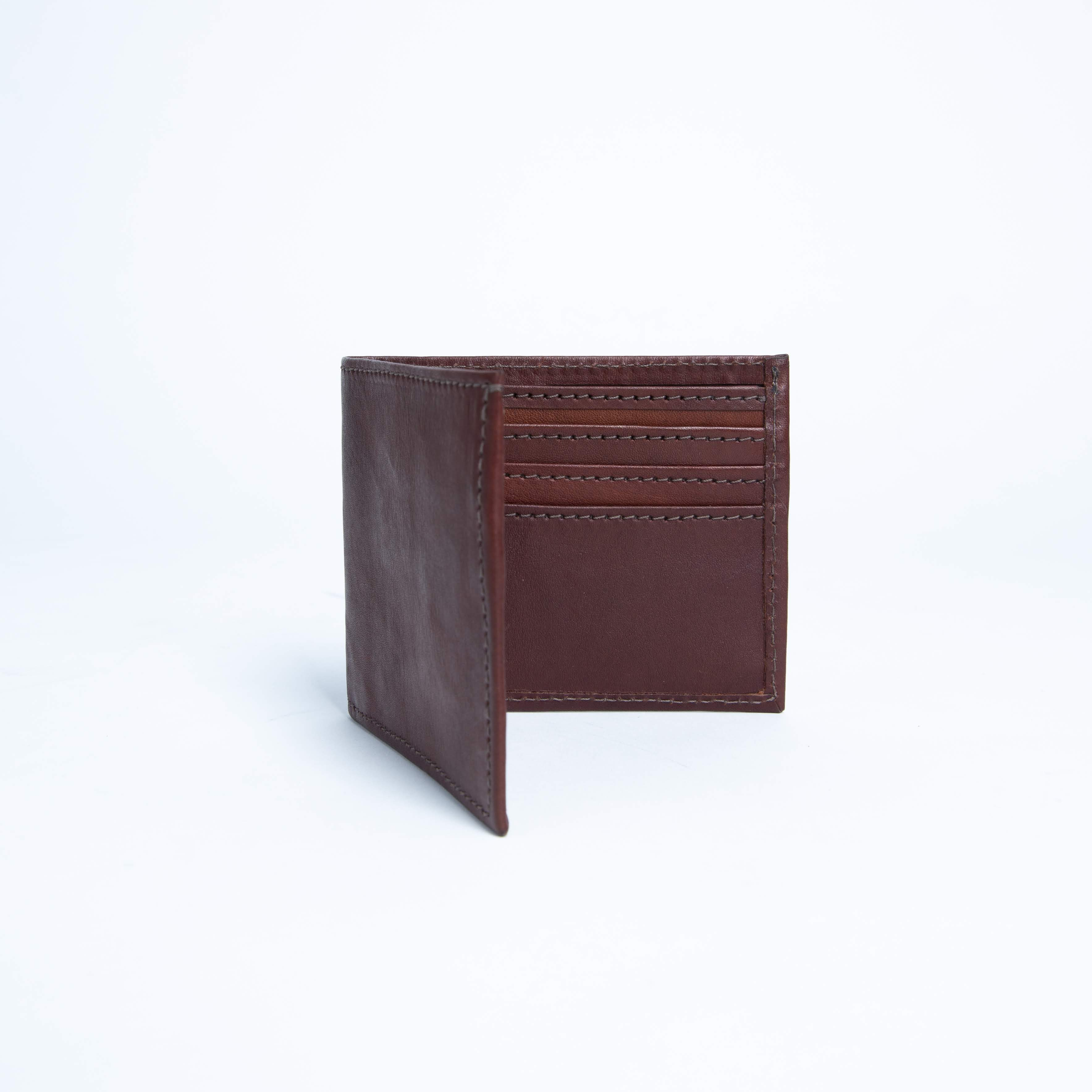 Bati | Brown Leather Bifold Wallet | Quality Handmade Leather Goods from Paraguay and Argentina  | Leather Wallets, Leather Bifold Wallets, Brown Wallet