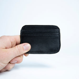 Bati | Black Leather Credit Card Wallet | Card Wallet | Credit Card Case | Leather Wallets | Mens Leather Wallet | Wallets for Women | Ladies Wallet | Small Wallet | Bifold Wallet | Wallet Purse | Bati Handmade Leather Wallets | Black Wallet | Black Leather Wallet