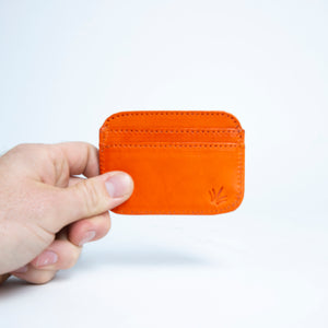 Bati | Orange Leather Credit Card Wallet | Card Wallet | Credit Card Case | Leather Wallets | Mens Leather Wallet | Wallets for Women | Ladies Wallet | Small Wallet | Bifold Wallet | Wallet Purse | Bati Handmade Leather Wallets