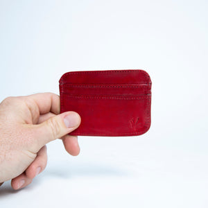 Bati | Red Leather Credit Card Wallet | Card Wallet | Credit Card Case | Leather Wallets | Mens Leather Wallet | Wallets for Women | Ladies Wallet | Small Wallet | Bifold Wallet | Wallet Purse | Bati Handmade Leather Wallets