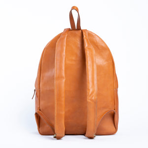 Bati | Tan Leather Backpack | Quality Handmade Leather Goods from Paraguay | leather backpacks, leather bags