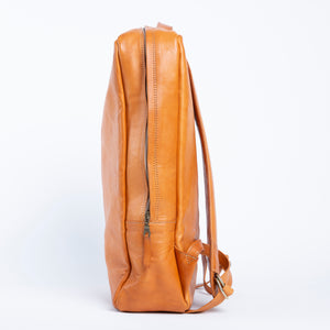 Bati | Men's Tan Leather Backpack | Quality Handmade Leather Goods from Paraguay and Argentina | leather backpacks, leather bags, leather accessories, leather bag