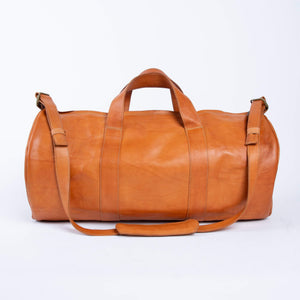 Bati | Tan Leather Duffel Bag | Handmade Leather Goods from Paraguay | Leather weekender, leather duffel bag, leather duffels, leather accessories, bati