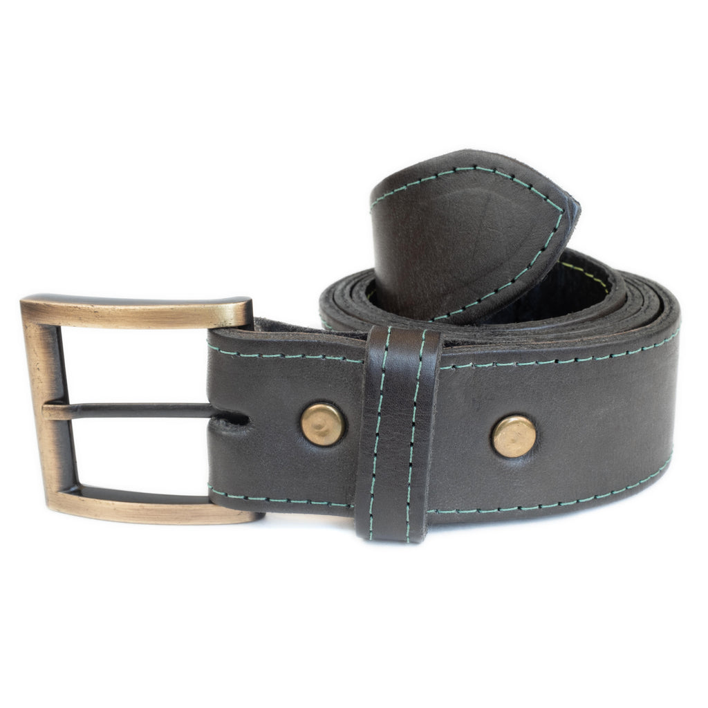 bati | Black Leather Belt | quality handmade leather goods from paraguay and argentina | bati leather goods | leather belts