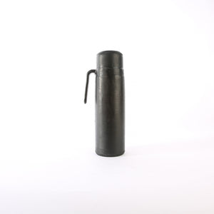 Black Leather Thermos | Leather Thermos, Leather Accessories, Leather, Hand Stitched Bati Leather Goods | Drinkware | Travel Accessories | Mate Thermos