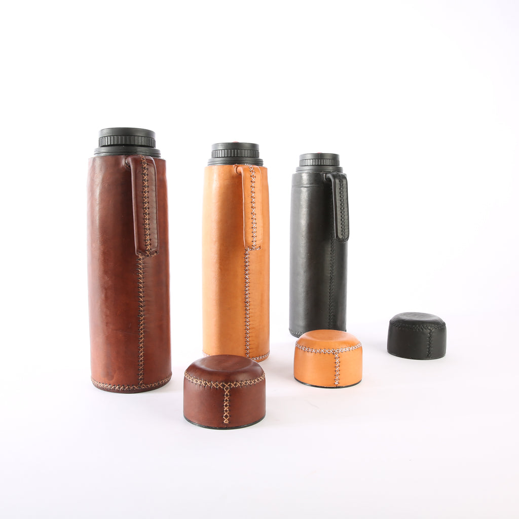 Leather Thermos | Leather Thermos, Leather Accessories, Leather, Hand Stitched Bati Leather Goods | Drinkware | Travel Accessories | Mate Thermos