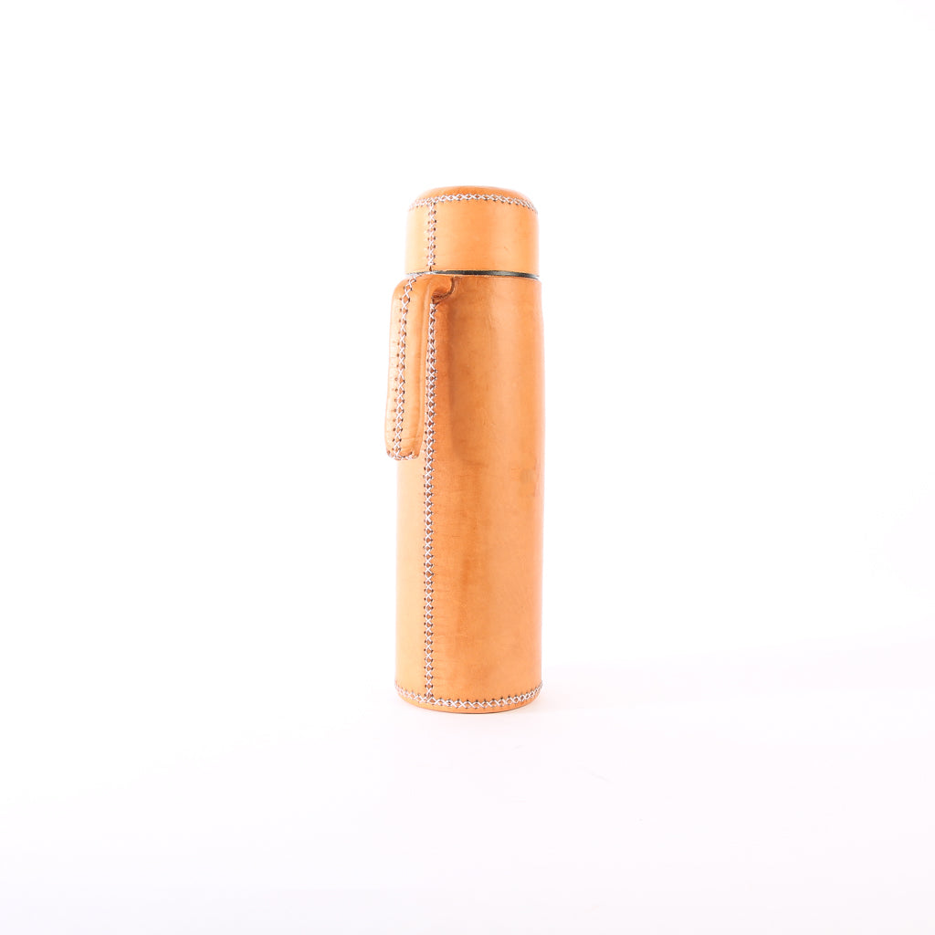 Tan Leather Thermos | Leather Thermos, Leather Accessories, Leather, Hand Stitched Bati Leather Goods | Drinkware | Travel Accessories | Mate Thermos