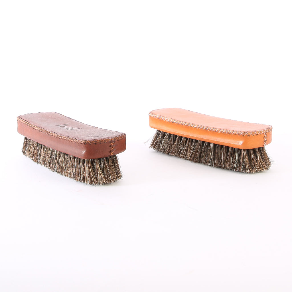 Bati | Leather Shoe Brush | Leather Accessories | Shoes | Hand Stitched Leather | Vegetable Tanned Leather | Lifestyle Accessories
