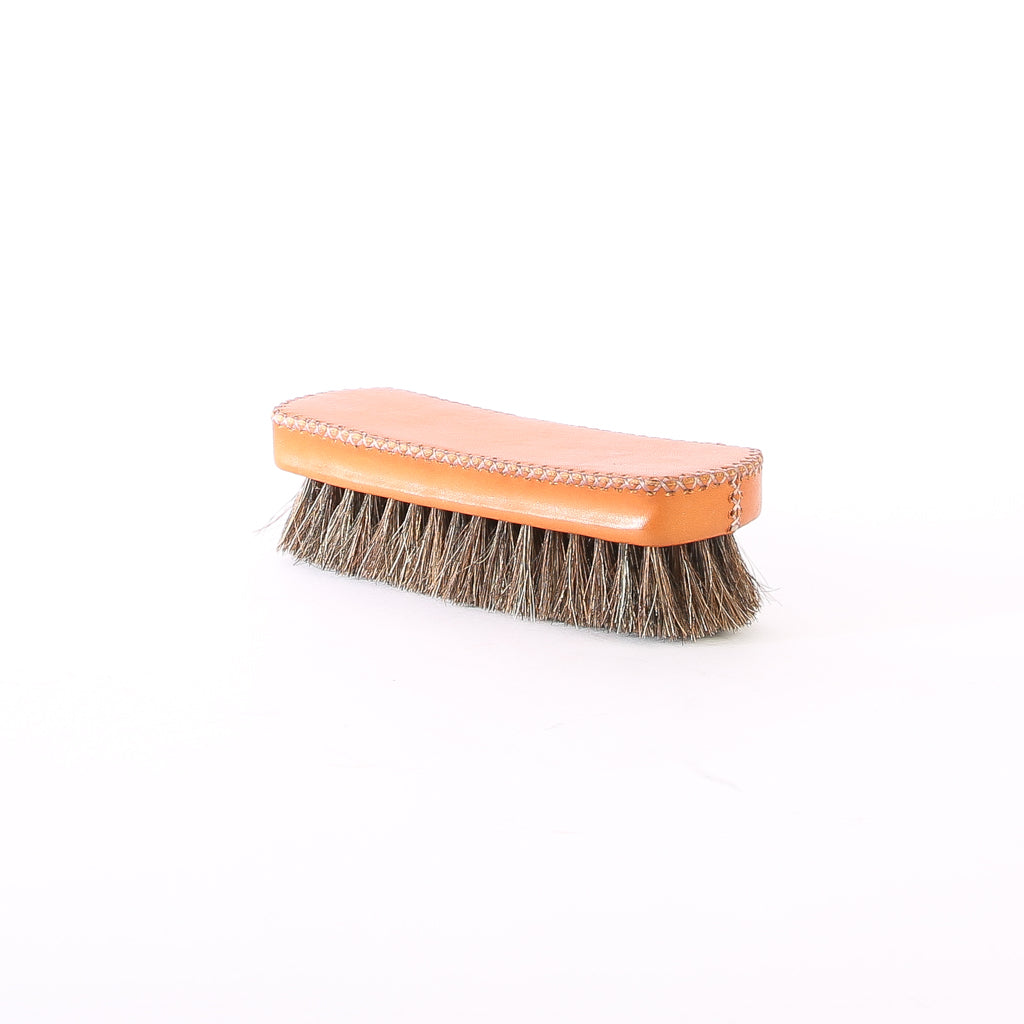 Bati | Tan Leather Shoe Brush | Leather Accessories | Shoes | Hand Stitched Leather | Vegetable Tanned Leather | Lifestyle Accessories