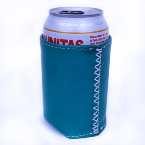 Bati | Teal Leather Can Koozie | Handmade Leather Goods from Paraguay | Leather Accessories, Leather Koozie