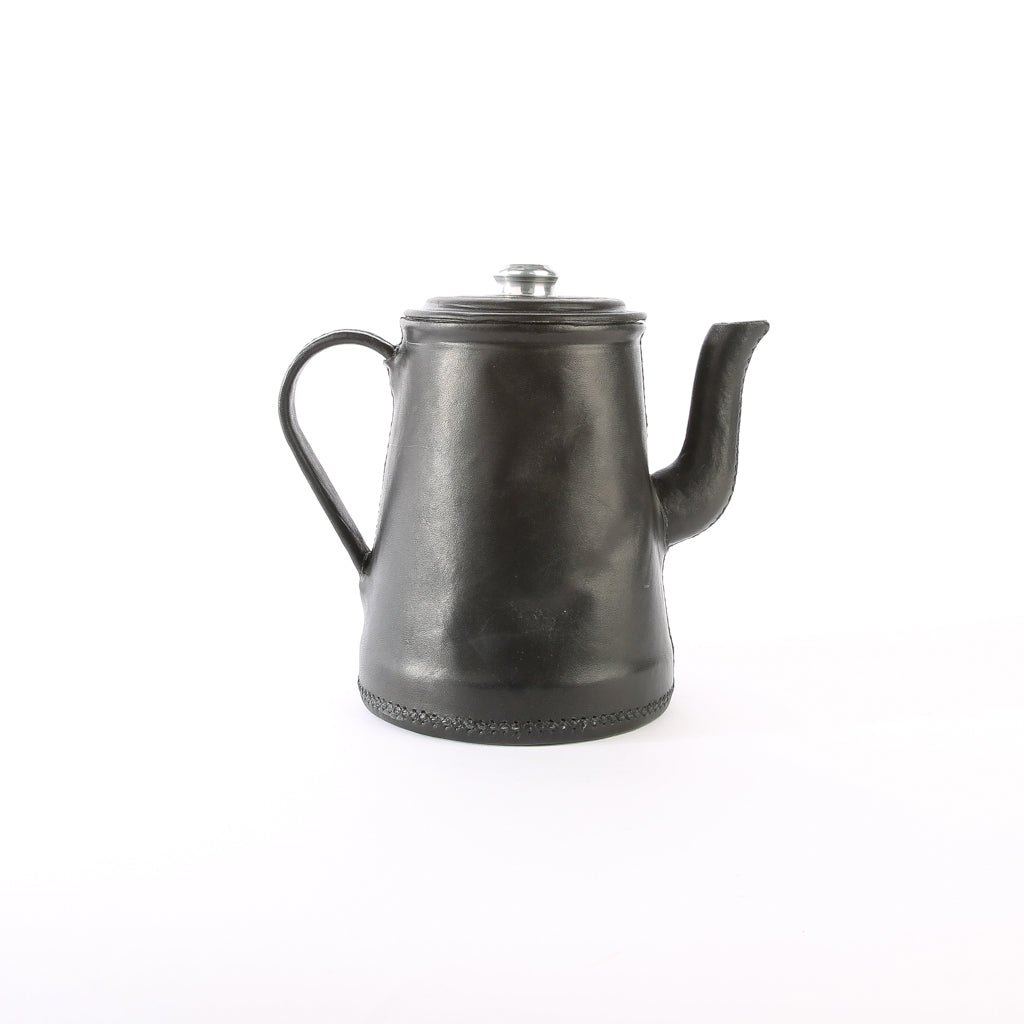 Black Leather Tea Pot | Bati Goods | Leather Tea Pot | Kitchen Accessories | Drinkware Accessories | Leather Accessories