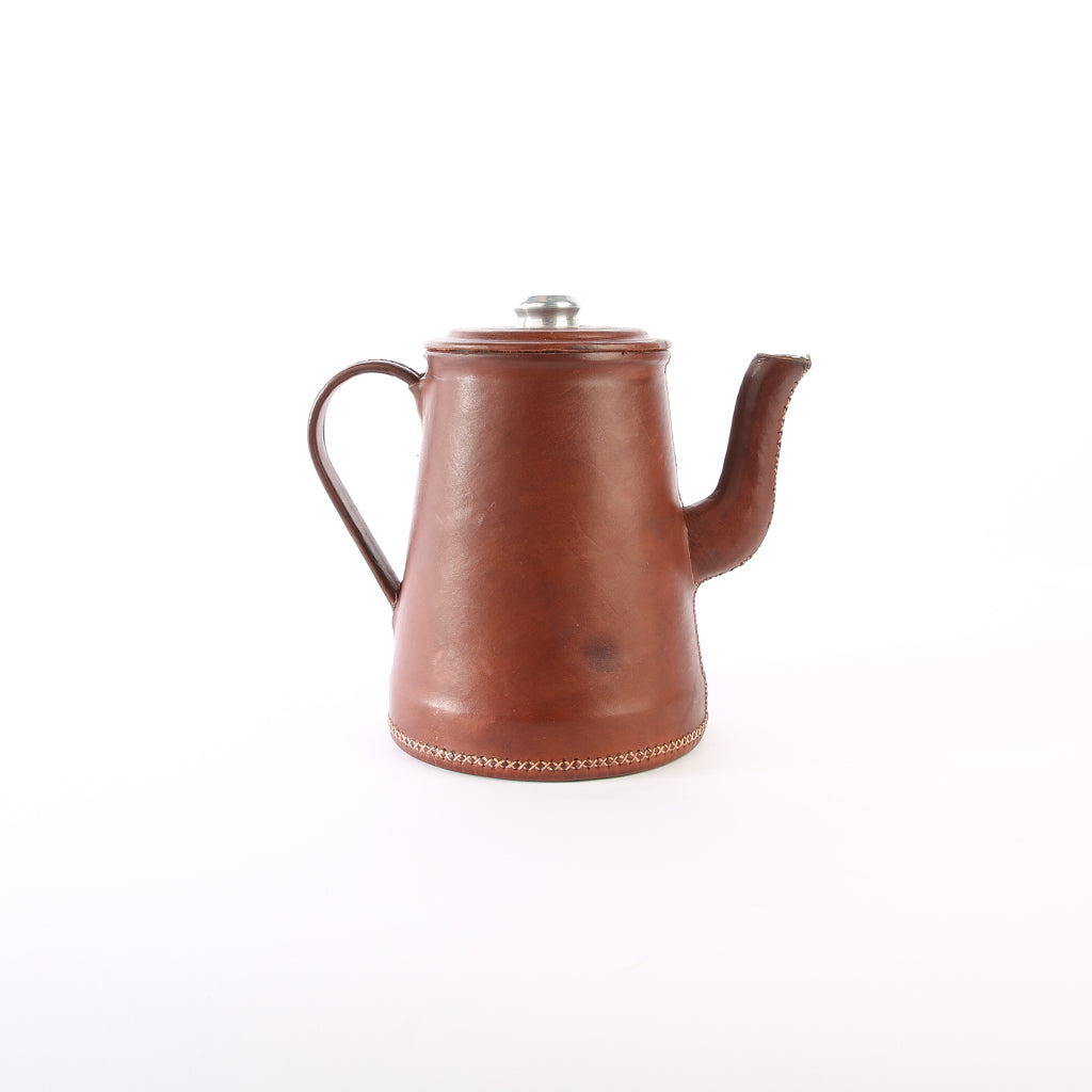 Brown Leather Tea Pot | Bati Goods | Leather Tea Pot | Kitchen Accessories | Drinkware Accessories | Leather Accessories