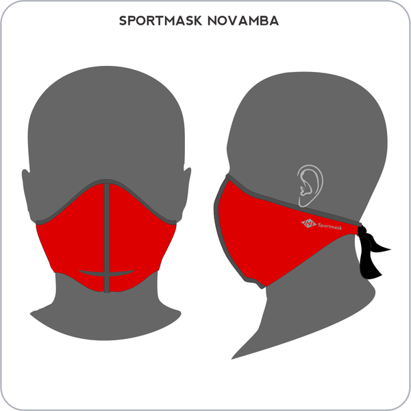 RW Dual Layer Sportmask Novamba - Red