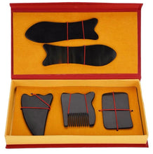 5 Piece Natural Horn Scraping Plate Set