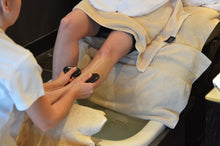 Basalt stones for hot stone manicure and pedicure massage therapy