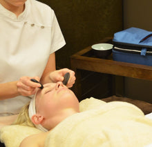 Basalt facial stone set for hot stone facial massage therapy