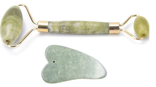 Jade Face Roller + Gua Sha Face Sculpting Tool