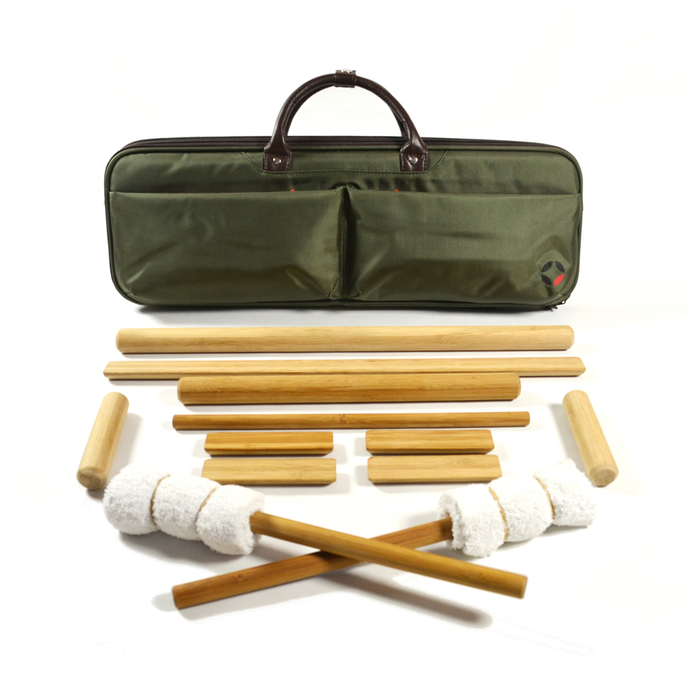 VULSINI Bamboo Heating bag and bamboo stick set for warm bamboo massage therapy