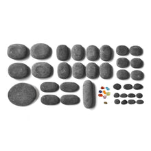 Basalt stone set for hot stone full body massage therapy