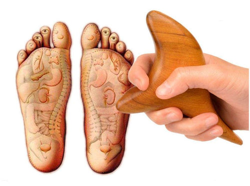 Camphor Wood Foot/Body Triangle Massage Tool