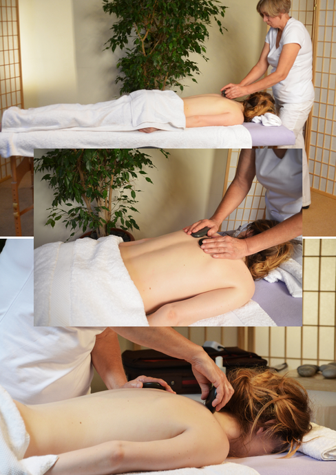 A Selection of 6 Hot Stone Back Treatment Images  -  Digital Download