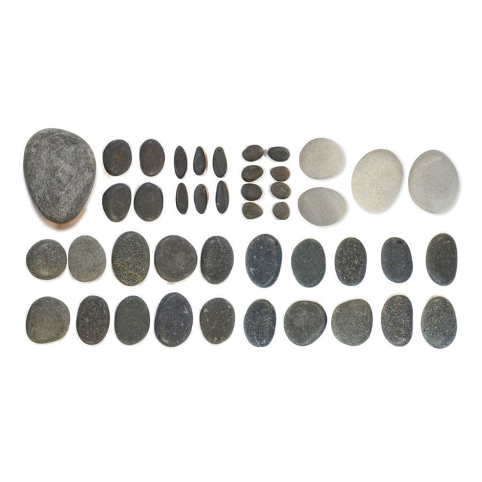 Basalt stone set for hot stone manicure and pedicure massage therapy