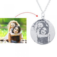 925 Sterling Silver Photo Engraved Necklace