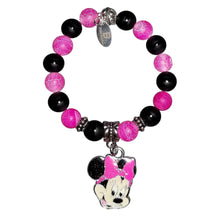 Children's Glittered Minnie Mouse Charm Bracelet