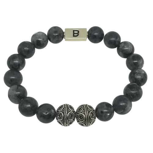 Men's Gray and Silver Bracelet