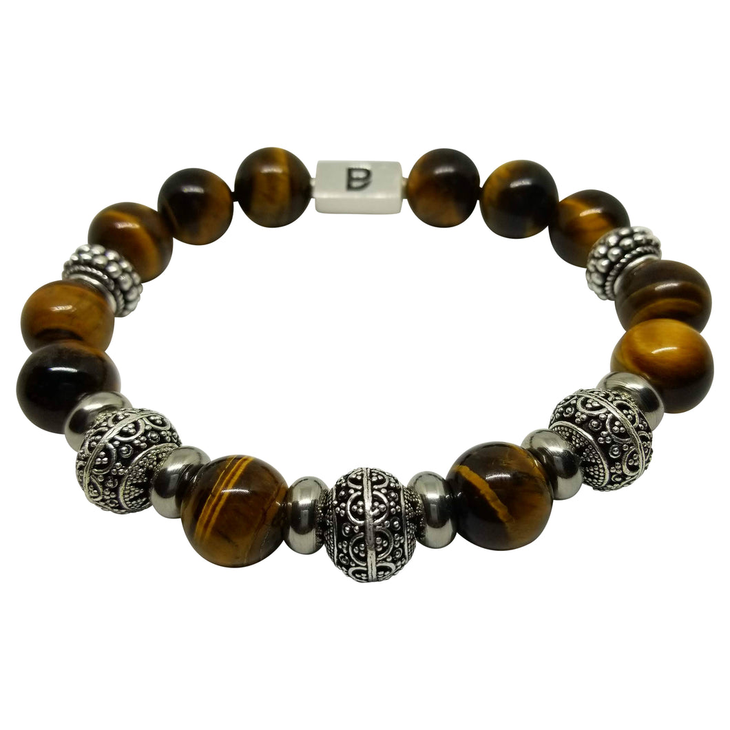 Brown and Silver Premium Bracelet