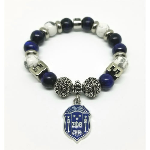 Zeta Phi Beta Lime Number Bracelet