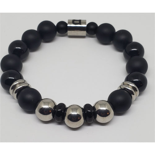 Black and Silver Base Bracelet
