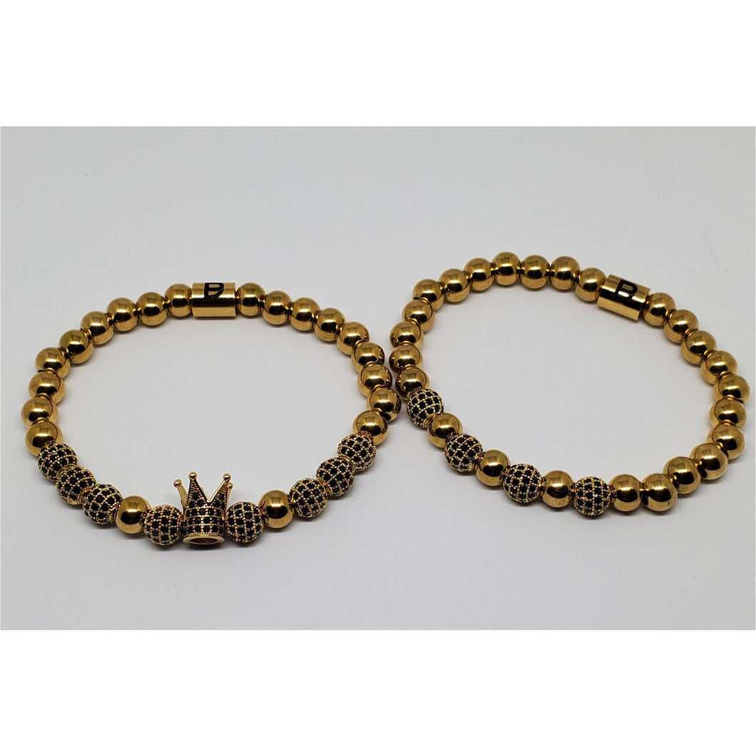 Gold and Black Crown Set