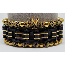 Gold and Black King Stackable