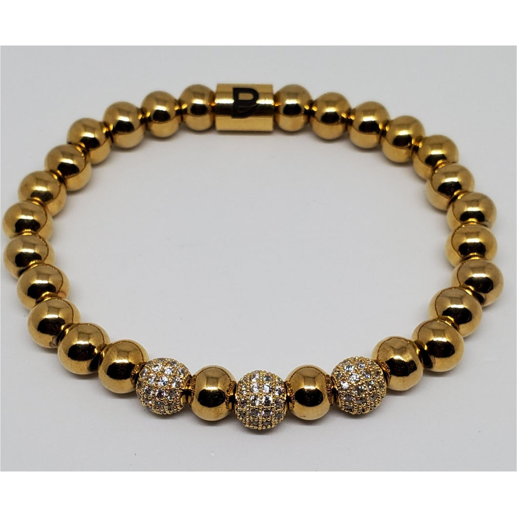 Single Gold Crystal Bracelet