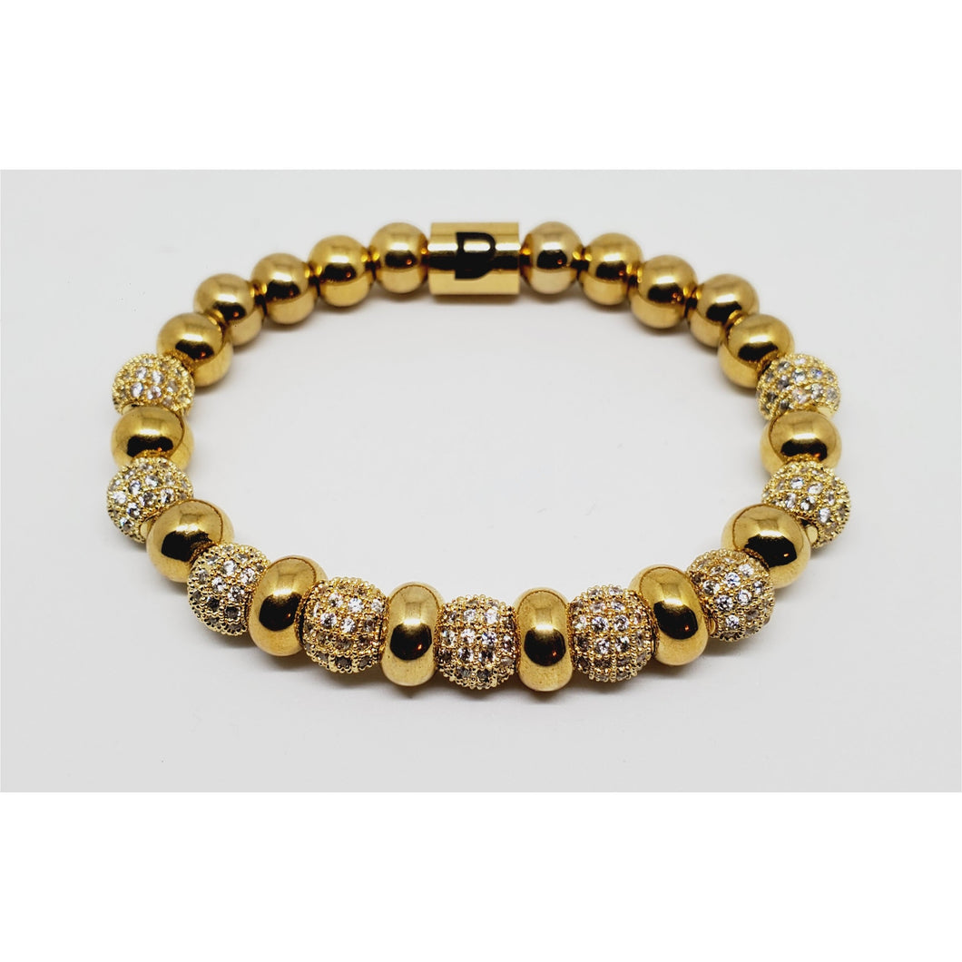 Gold Beauty Crystal Bracelet