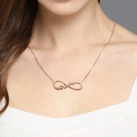 925 Sterling Rose Gold 8-Shaped Necklace