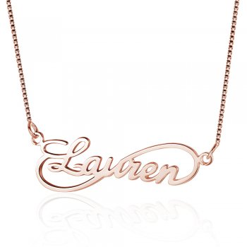 925 Rose Gold Sterling Silver Name Necklace