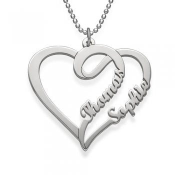 925 Sterling Silver Couple Necklace