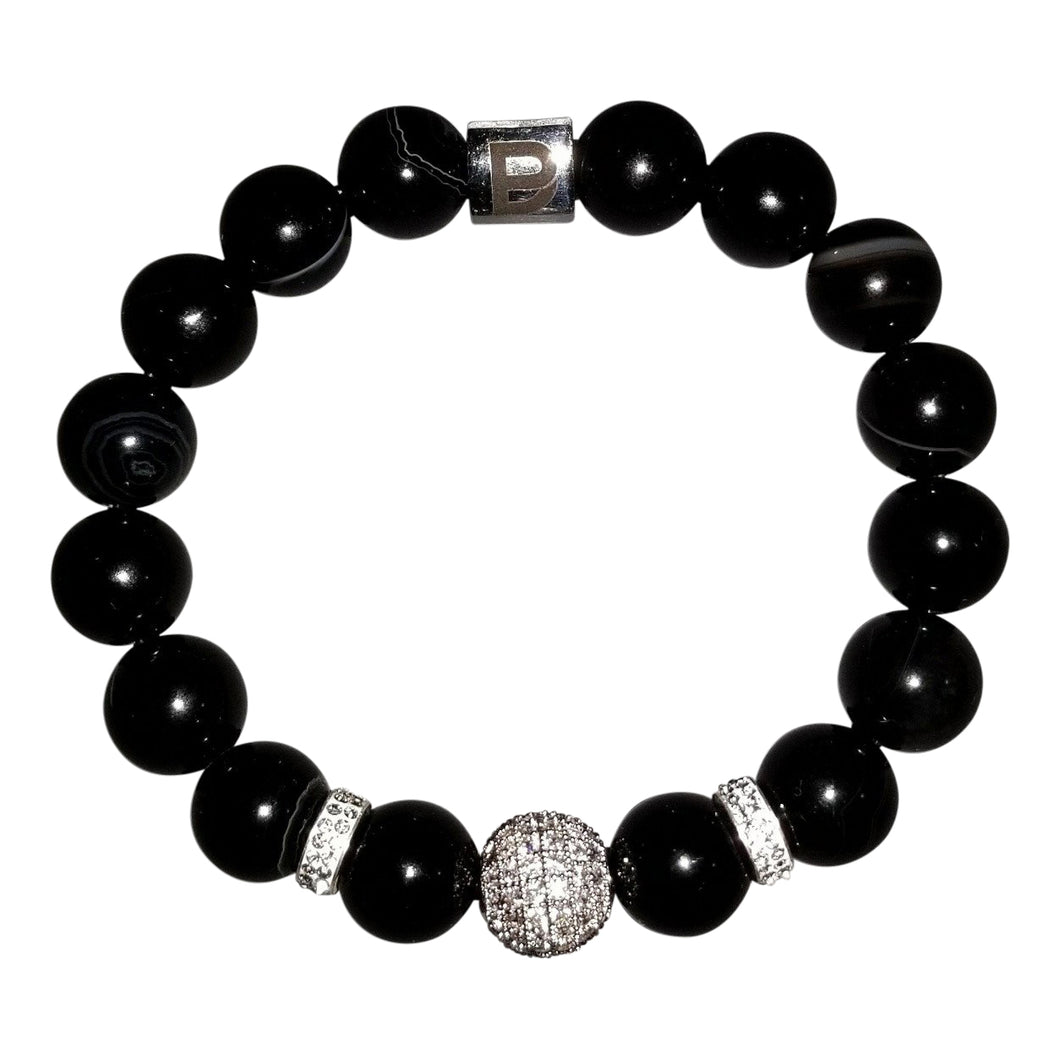 Black 10mm Ladies Bracelet