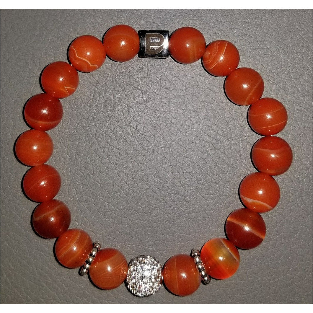 Orange Ladies 10mm Bracelet