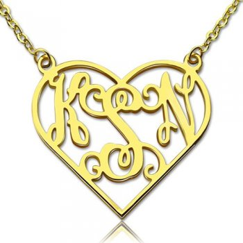 Personalized Three Letter Monogram Necklace